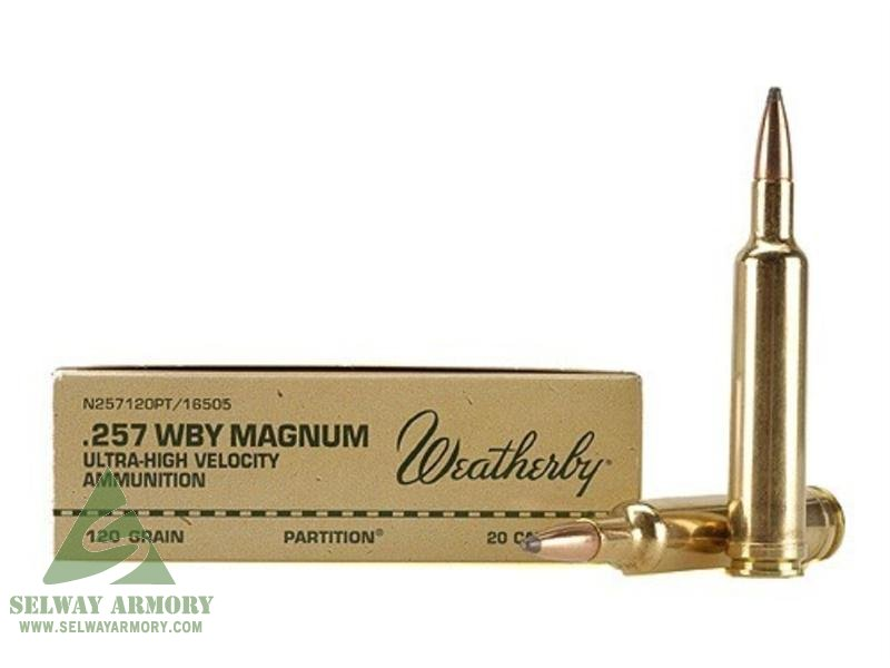 Weatherby  257 Weatherby Magnum 120 Gr  Nosler Partition