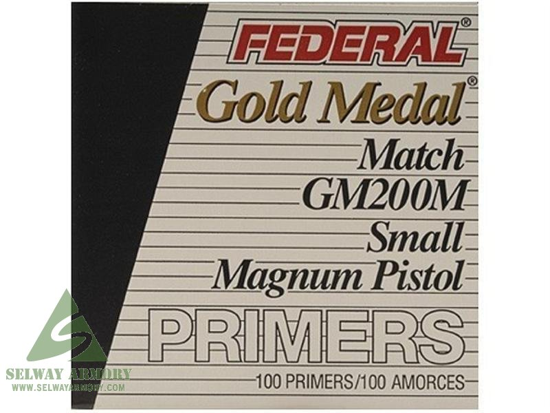 Federal Premium Gold Medal Small Pistol Magnum Match Primers #200M- Box of 1000 (HAZMAT Fee Required)