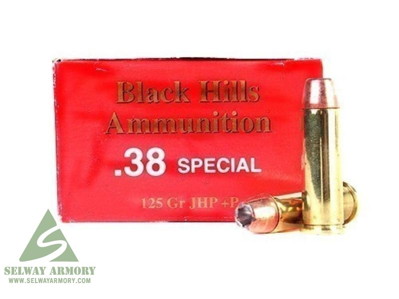 Black Hills  38 Special +P 125 Gr  Jacketed Hollow Point- Box of 50