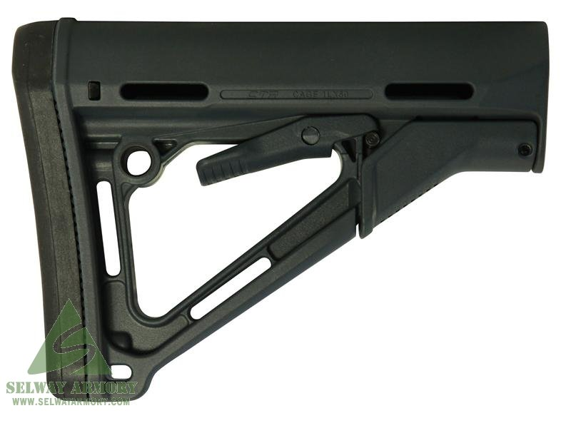 MAGPUL Stock CTR Collapsible AR-15 Carbine Synthetic- Commercial- GRAY