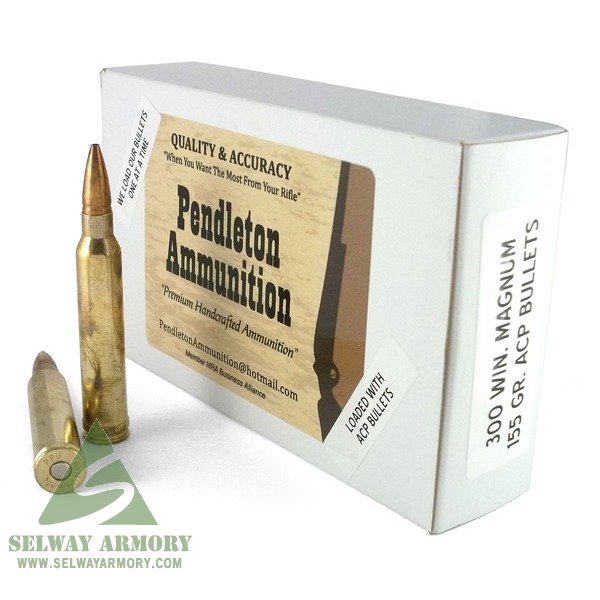 Pendleton .300 Winchester Magnum 155 Gr. Sidewinder Aussie Copper Projectile- Lead-Free