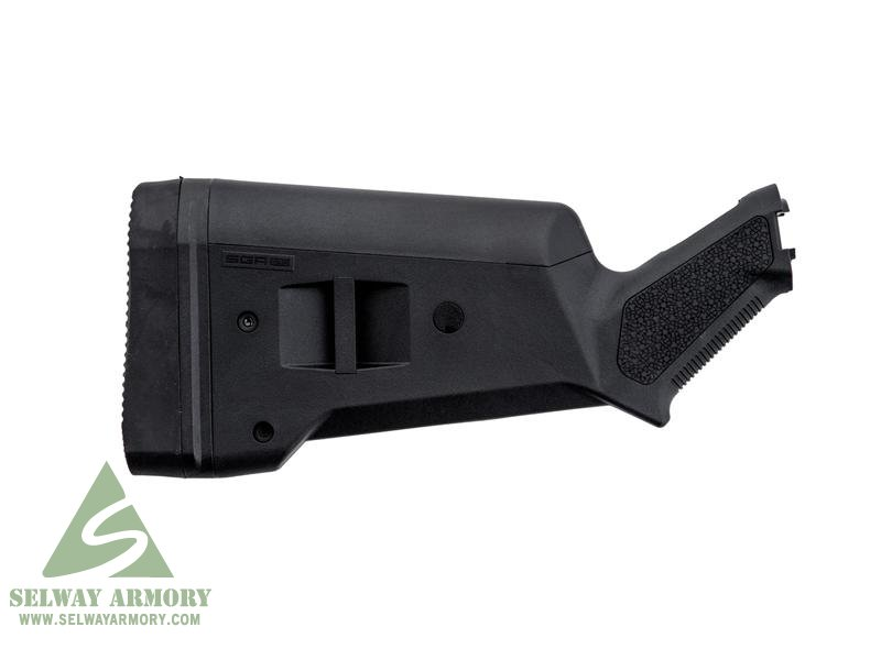 Magpul Stock SGA Adaptable Mossberg 500, 590, 590A1 12 Gauge Synthetic- BLACK