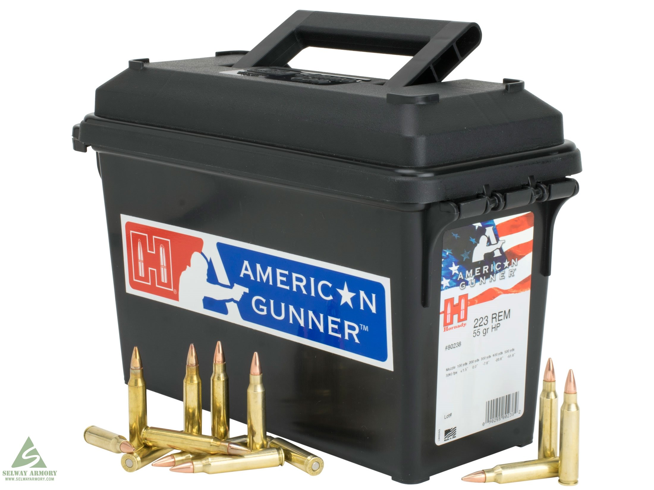 Hornady American Gunner .223 Remington 55 Gr. Hollow Point 80238