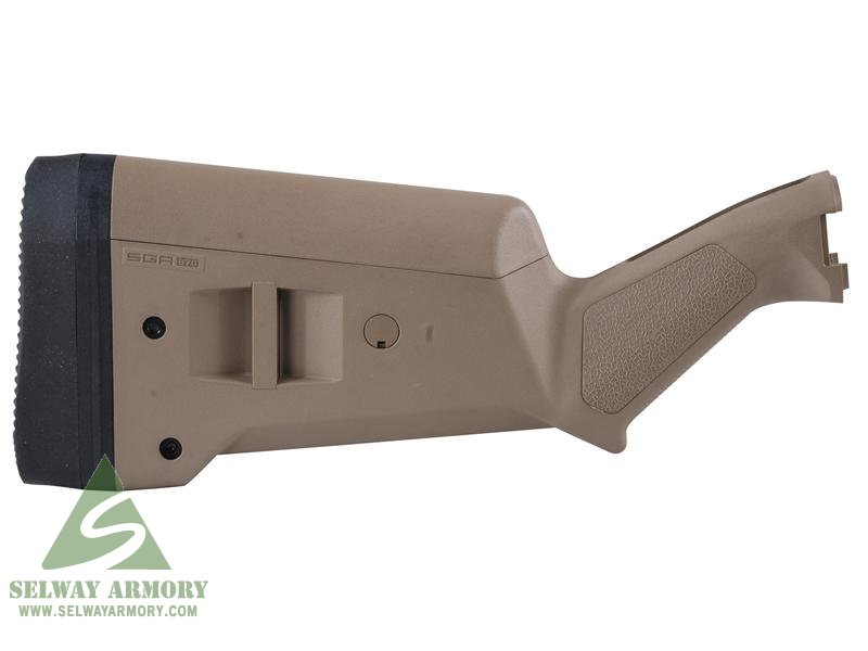 MagPul Stock SGA Adaptable Remington 870 12 Gauge Synthetic- FDE