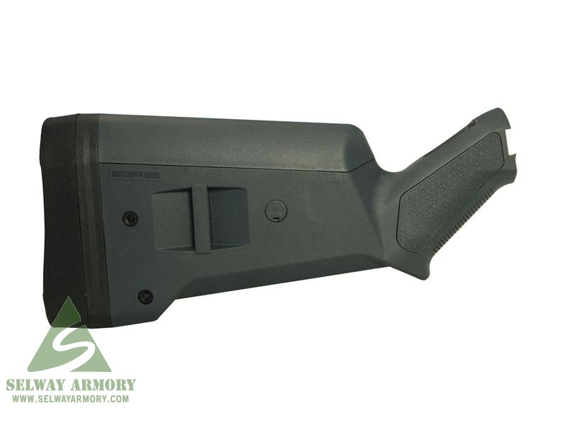Magpul Stock SGA Adaptable Mossberg 500, 590, 590A1 12 Gauge Synthetic- GRAY