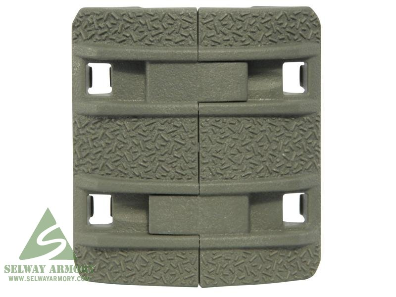 MagPul XTM Enhanced Modular Full Profile Picatinny Rail Cover Polymer- Package of 4- FOL