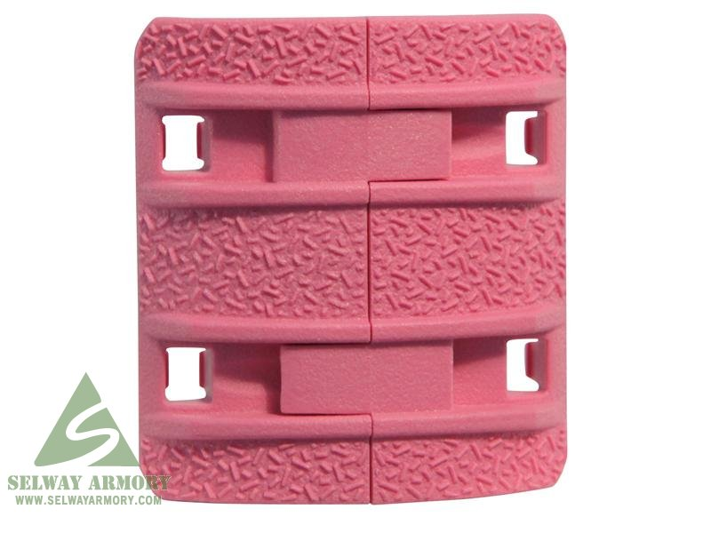 MagPul XTM Enhanced Modular Full Profile Picatinny Rail Cover Polymer- Package of 4- PINK