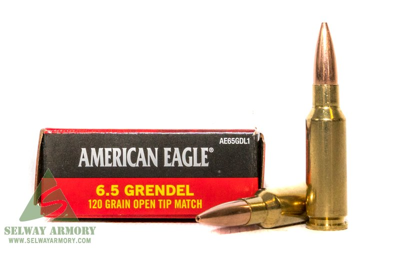 Federal American Eagle 6.5 Grendel 120 Gr. Open Tip Match- Box of 20