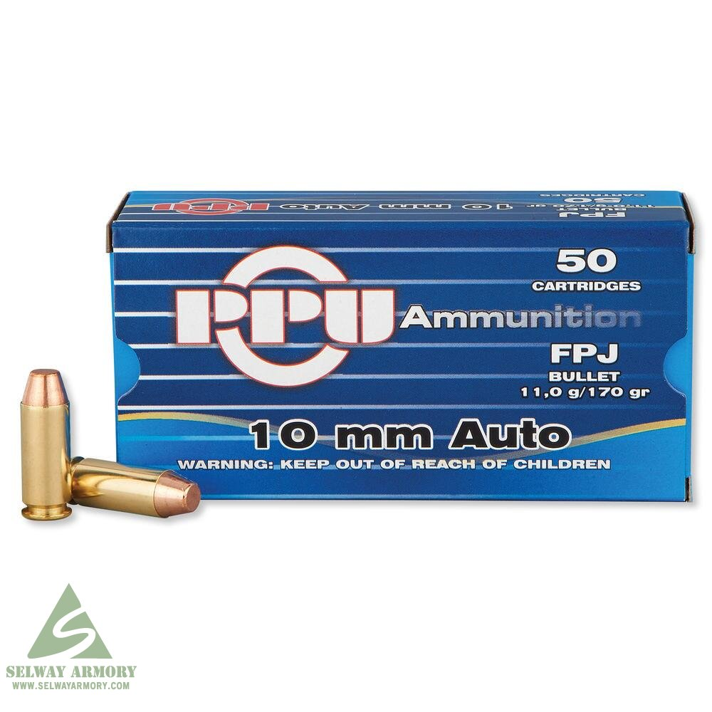Prvi Partizan 10mm Auto 170 Gr. Jacketed Flat Point PP-R10.2