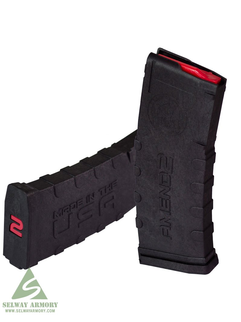 Amend2 AR-15 5.56x45mm 30-Round Magazine with Red Follower
