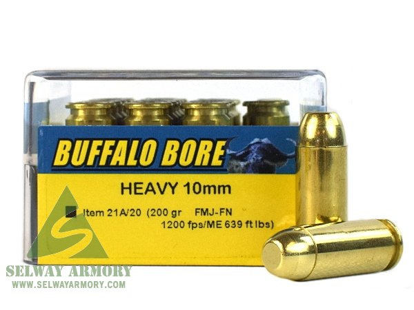 Buffalo Bore 10mm Auto 200 Gr  Full Metal Jacket Flat Nose