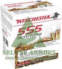Winchester .22 Long Rifle 36 Gr. Plated Lead Hollow Point- 22LR555HP