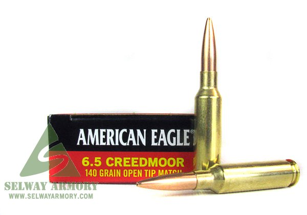 Federal American Eagle 6.5 Creedmoor 140 Gr. Open Tip Match-Box of 20