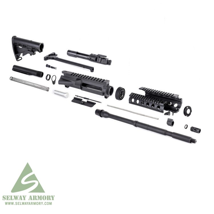 AR15 Rifle Kit without Lower Parts Kit 5 56x45mm NATO 1 in 7