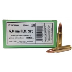 Sellier & Bellot 6.8mm Remington SPC 110 Gr. FMJ- Box of 20