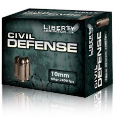 Liberty Civil Defense 10mm 60 Gr. Fragmenting Hollow Point- Lead-Free- Box of 20