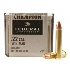 Federal Champion Target .22 Winchester Magnum Rimfire (WMR) 40 Gr. Full Metal Jacket 737