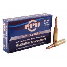 Prvi Partizan 6.5x55mm Swedish Mauser 139 Gr. Soft Point- Box of 20