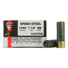 "Fiocchi Speed Steel Ammunition 12 Gauge 3"" 1-1/8 oz BB Non-Toxic Steel Shot- Box of 25"