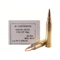 Prvi Partizan 5.56x45mm 55 Gr. NATO M193 Full Metal Jacket- Box of 20