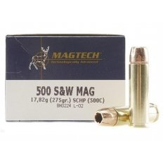 Magtech Hunting .500 S&W Magnum 275 Gr. Solid Copper Hollow Point- Lead-Free- Box of 20