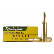 Remington Express .243 Winchester 80 Gr. Pointed Soft Point- Box of 20