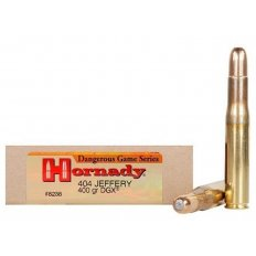 Hornady Dangerous Game .404 Jeffery 400 Gr. DGX Flat Nose Expanding- Box of 20