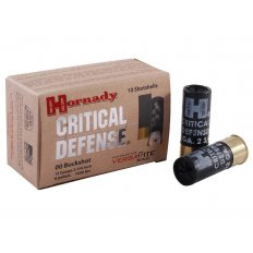 "Hornady Critical Defense 12 Gauge 2-3/4"" 00 Buckshot- Box of 10"