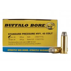 Buffalo Bore .45 Long Colt 255 Gr. Lead Keith-Type Semi-Wadcutter Gas Check- Box of 20
