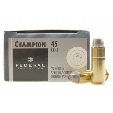 Federal Champion .45 Long Colt 225 Gr. Semi-Wadcutter Hollow Point- Box of 20