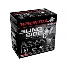 "Winchester Blind Side 12 Gauge 2-3/4"" 1-1/4 oz #2 Non-Toxic Steel Shot- Box of 25"