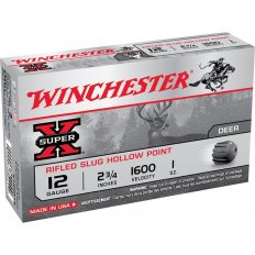"Winchester Super-X 12 Gauge 2-3/4"" 1 oz Rifled Slug- Box of 5"