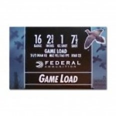 "Federal Game-Shok Hi-Brass 16 Gauge 2-3/4"" 1 oz #7-1/2 Shot- Box of 25"