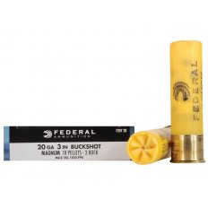 "Federal Power-Shok 20 Gauge 3"" Buffered #2 Buckshot 18 Pellets F207 2B"