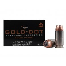 Speer Gold Dot Short Barrel .40 S&W 180 Gr. Jacketed Hollow Point- Box of 20