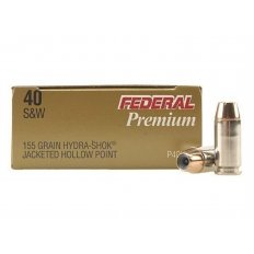 Federal Premium Personal Defense .40 S&W 155 Gr. Hydra-Shok Jacketed Hollow Point- Box of 20