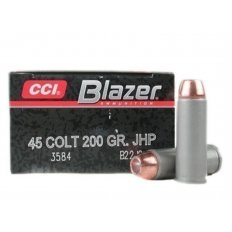CCI Blazer .45 Long Colt 200 Gr. Jacketed Hollow Point- Box of 50