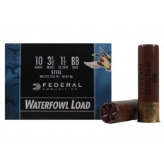 "Federal Speed-Shok Waterfowl 10 Gauge 3-1/2"" 1-1/2 oz BB Non-Toxic Steel Shot- Box of 25"