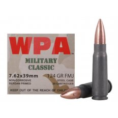 Wolf Military Classic 7.62x39mm 124 Gr. Full Metal Jacket (Bi-Metal)- Box of 20