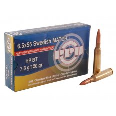 Prvi Partizan Match 6.5x55mm Swedish Mauser 120 Gr. Hollow Point Boat Tail- Box of 20