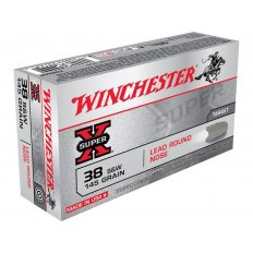 Winchester Super-X .38 S&W 145 Gr. Lead Round Nose- Box of 50