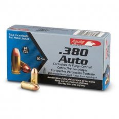 Aguila .380 Auto 95 Gr. Full Metal Jacket- Box of 50