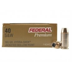 Federal Premium Personal Defense .40 S&W 165 Gr. Hydra-Shok Jacketed Hollow Point- Box of 20
