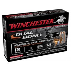 "Winchester Dual-Bond 12 Gauge 3"" 375 Gr. JHP Sabot Slug- Box of 5"