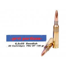 Prvi Partizan 6.5x55 Swedish Mauser 139 Gr. Full Metal Jacket- Box of 20