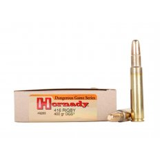 Hornady Dangerous Game .416 Rigby 400 Gr. DGS Flat Nose Solid- Box of 20