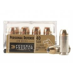 Federal Premium Personal Defense Reduced Recoil .40 S&W 135 Gr. Hydra-Shok Jacketed Hollow Point- Box of 20