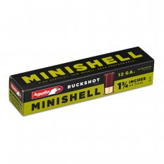 "Aguila Minishell 12 Gauge 1-3/4"" #4 and #1 Buckshot 11 Pellets 1C128970"