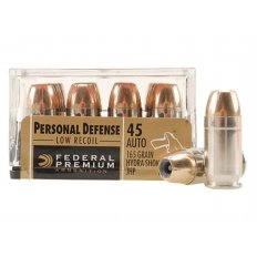 Federal Premium Personal Defense .45 ACP 165 Gr. Reduced Recoil Hydra-Shok Jacketed Hollow Point- Box of 20