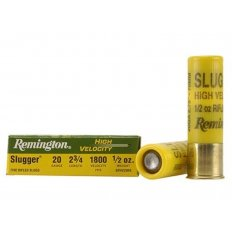 "Remington Slugger 20 Gauge 2-3/4"" 1/2 oz High Velocity Rifled Slug- Box of 5"